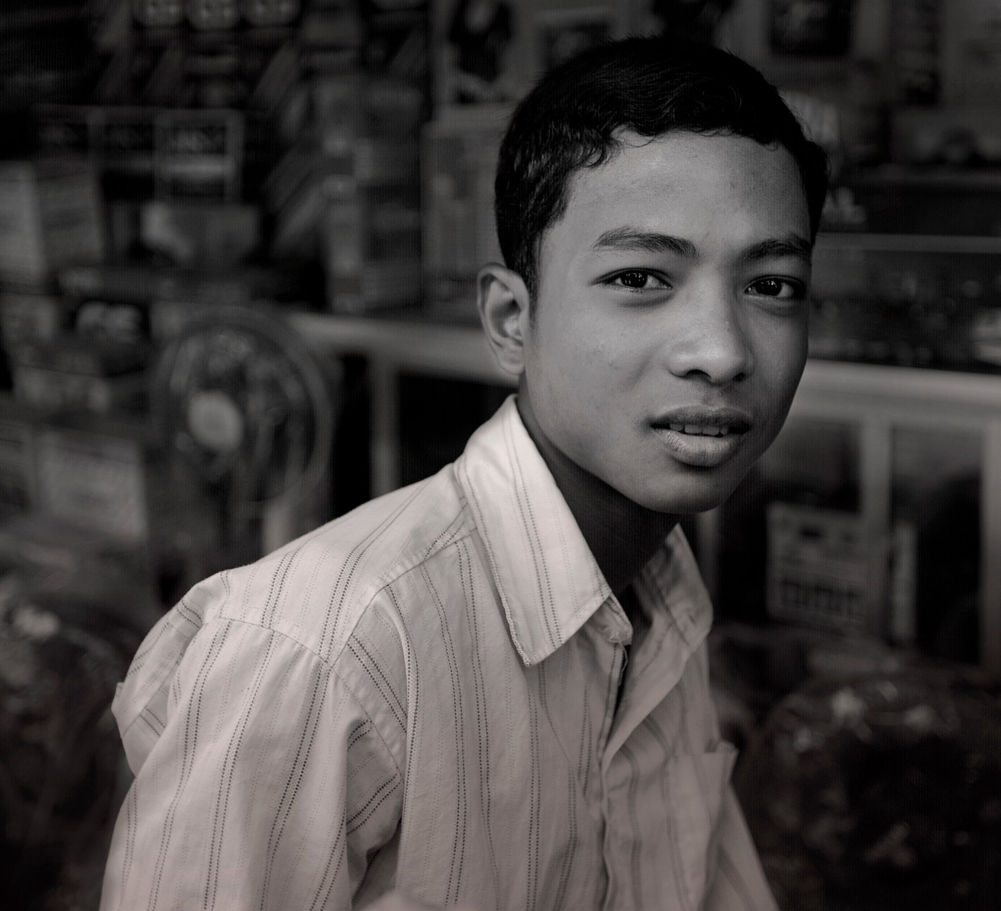 Young Visayan Man in a Strange World
