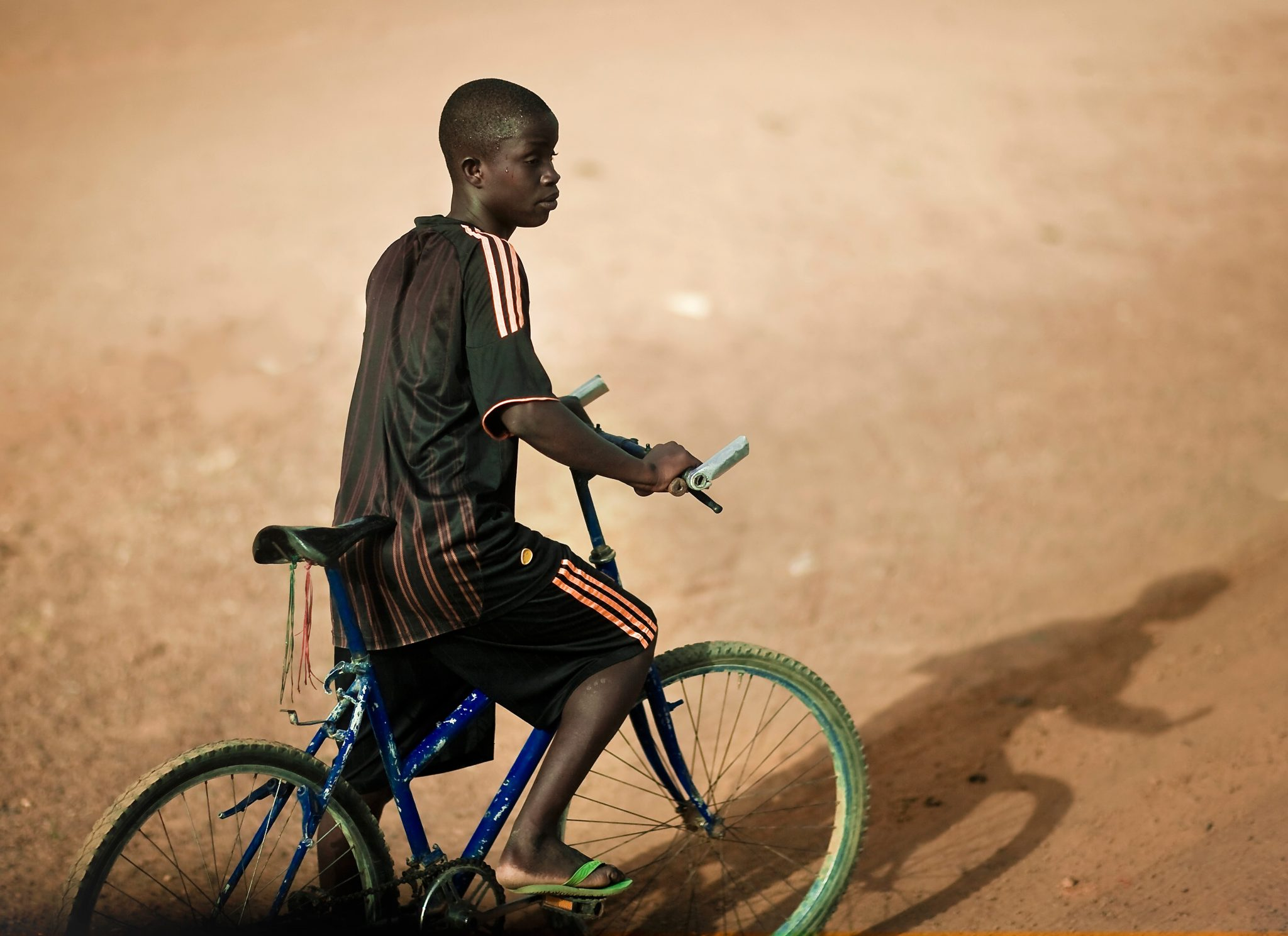 Boy on Bicycle, Podor