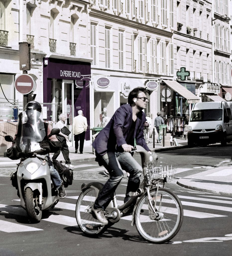 Man on Bicycle in Rome