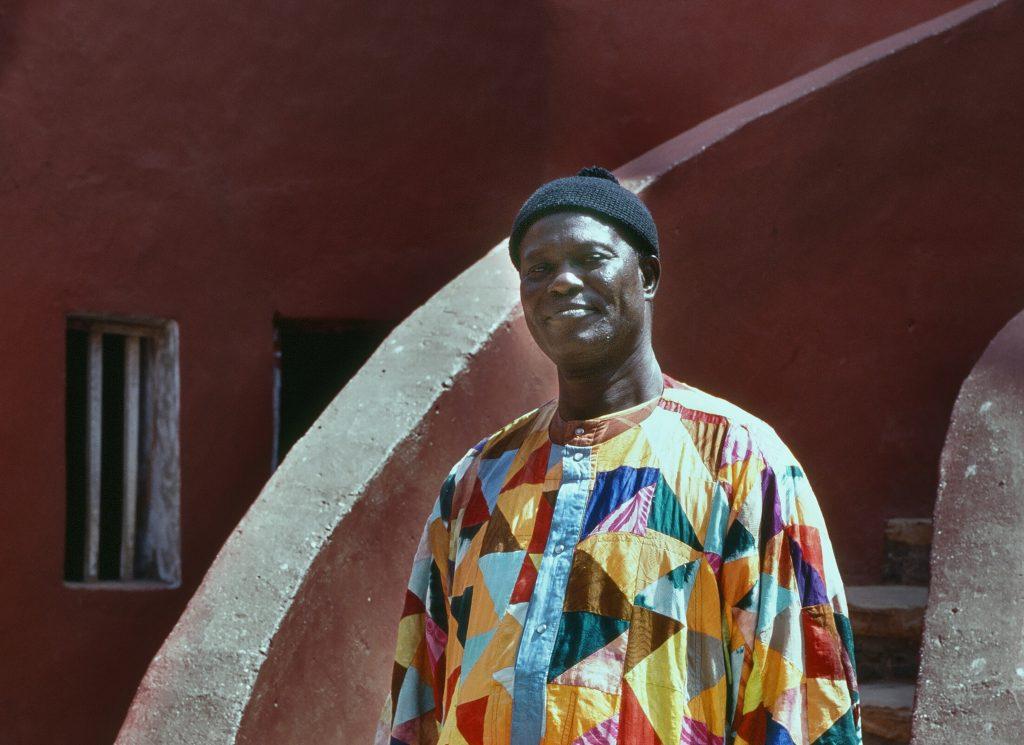 Man Wearing Colorful Attire in Dakar, Senegal
